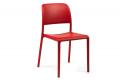 Sedia in plastica in colore rosso