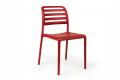 Sedia rossa per arredo terrazze bar