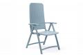Sedia moderna con schienale alto da giardino di colore celeste