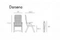 Nardi Garden - Misure poltrona relax Darsena