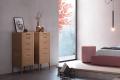 Settimino moderno 6 cassetti in legno con gambe alte per camera da letto
