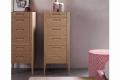 Settimino 6 cassetti moderno in legno con gambe alte