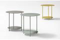 Tavolino alto rotondo da soggiorno in metallo