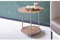 Tavolino design rotondo con doppio ripiano
