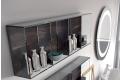 Pensile in vetro a giorno per un bagno moderno