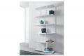 Libreria alta bianca di design per parete soggiorno