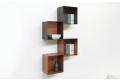 Pensili libreria a cubi componibili da soggiorno in acciaio colorato rame