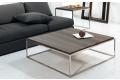 Tavolini quadrati bassi in acciaio e laminato