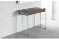 Tavolo consolle allungabile da ingresso con gambe in vetro