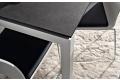 Tavolo moderno da cucina in HPL per 6 persone con gambe in alluminio