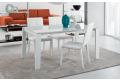 Tavolo in vetro bianco lucido di design allungabile da soggiorno