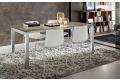 Tavolo in gres porcellanato allungabile moderno da soggiorno con gambe in alluminio