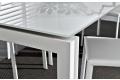 Tavolo di design bianco allungabile per 10 persone con piano in vetro