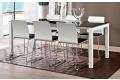 Tavolo allungabile moderno per 8 persone con gambe in alluminio bianche