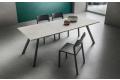 Tavolo soggiorno di design per 8 persone con prolunga centrale a libro