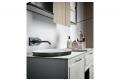 Mobile bagno sospeso laccato grigio opaco con lavabo ovale a semincasso