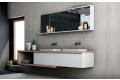 Arredo bagno moderno sospeso con due lavandini