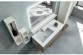 Mobile bagno con lavabo integrato e specchio a led