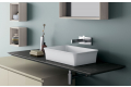 Consolle in laminato lavabo in mineral marmo