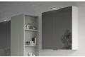 Specchio bagno contenitore 2 ante moderno con faretto a led superiore