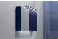 Specchiera moderna colorata contenitore da bagno con luce led inferiore