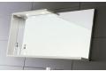 Specchiera con cornice da bagno completa di mensola e luci led con interruttore
