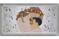 Quadro L'abbraccio di G. Klimt finitura argento