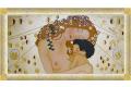 Quadro L'abbraccio di G. Klimt finitura oro