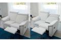 Divano moderno con seduta reclinabile e poggiapiedi