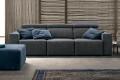 Divano 3 posti di design con poggiatesta reclinabile e sedute allungabili