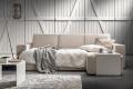 Divano da salotto di design con panchetta e sedute scorrevoli per divano letto