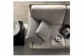 Divano design con penisola con braccioli sottili, con cuscini seduta e schienali
