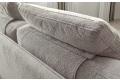 Divano design con cuscini d'arredo con doppia funzione di poggiatesta e poggiareni