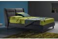 Letto di design 1 piazza e mezza in tessuto con testiera reclinabile