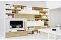 modern wooden bookcase