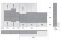 Misure soggiorno a parete di design
