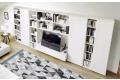 Parete soggiorno moderna con doppia profondità