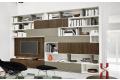 Libreria soggiorno di design in legno