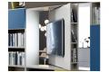 Porta tv girevole 180° per libreria bifacciale