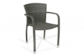 Sedia con poggioli per arredo esterno colore grigio cenere