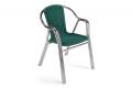 Sedia con braccioli da arredo giardino in colore verde