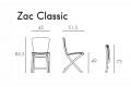 Nardi  sedia pieghevole Zac Classic, misure