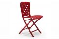 Sedia pieghevole Zac Spring in color rosso