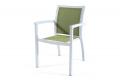 Sedia da terrazzo esterno con seduta e schienale colore verde