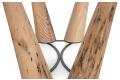 Tavolo moderno con gambe in legno di Bricole di Venezia