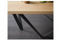 Tavolo allungabile con piano in legno rovere