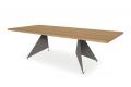 Tavolo moderno fisso da 3 metri in impiallacciato rovere naturale