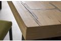 Piano in legno massello con gamba in putrella