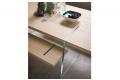 Tavolo moderno con gambe vetro ad incastro nel piano