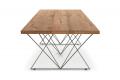Tavolo moderno in rovere antico allungabile fino a 4 metri